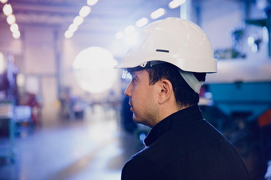 Man-with-helmet-ear