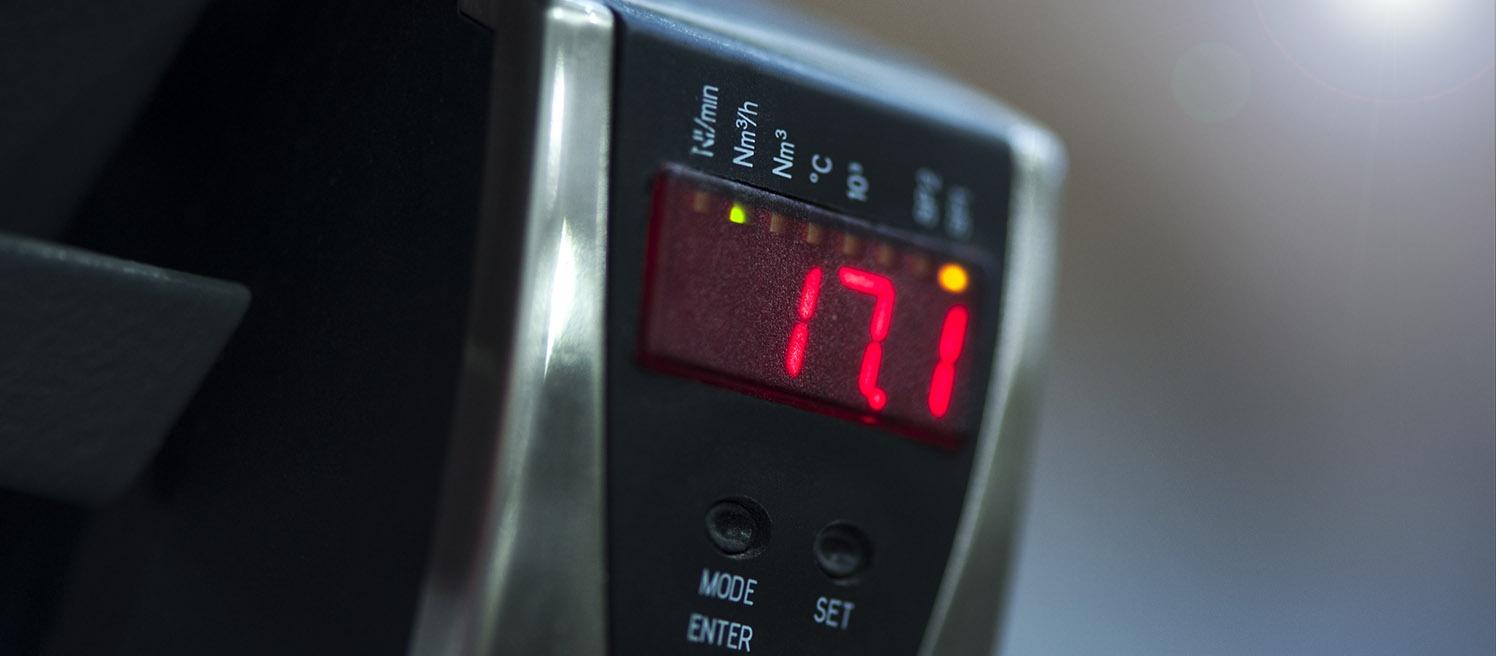 Hur omvandlar man tryckluftsförbrukningen från Nl/min till Nm3/h?